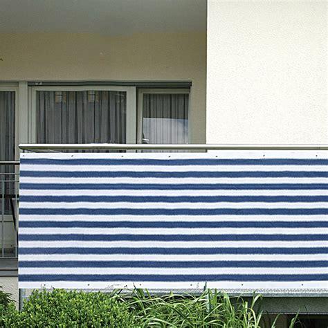 Bauhaus Balkon Sichtschutz gardol balkonsichtschutz blau wei 223 5 x 0 9 m bauhaus