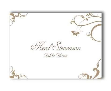 free template for place cards tented place cards wedding place card template diy editable