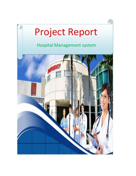 Mba Hospital Administration Projects by Hospital Management System