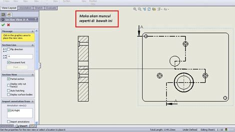 tutorial solidworks indonesia tutorial solidworks indonesia multiple section view in