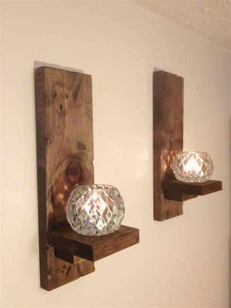 Rustic Candle Wall Sconces Wall Sconces Rustic Pair