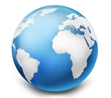 Realistic Earth Globe Graphic PSD/PNG   WeLoveSoLo