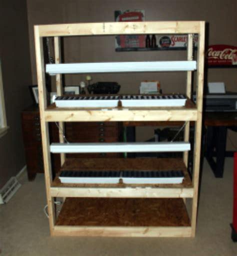 diy indoor seed starting rack  prepared page