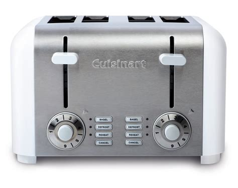 Small 4 Slice Toaster Cuisinart 4 Slice Compact Toaster White Stainless The