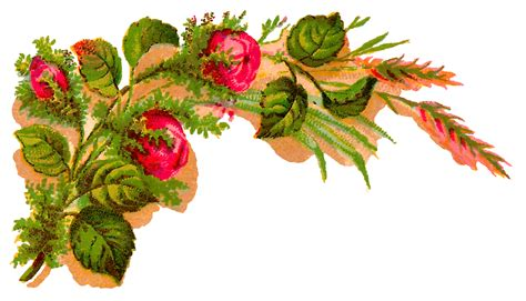 decorative flower antique images digital decorative flower corner download