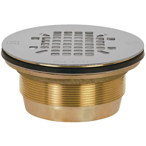 sioux chief shower drain installation sioux chief 2 in brass shower drain with no caulk 827 2b the home depot