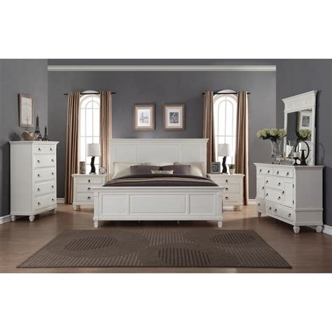 shop regitina white  piece king size bedroom furniture set  sale  shipping today