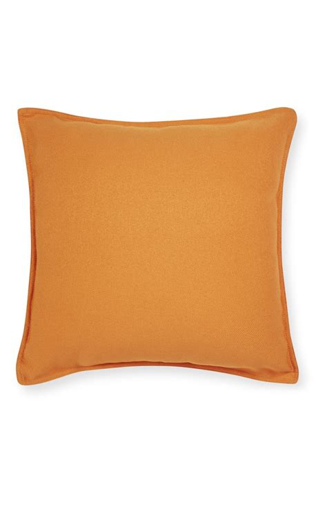 primark cusions orange faux linen cushion for taking rest by primark