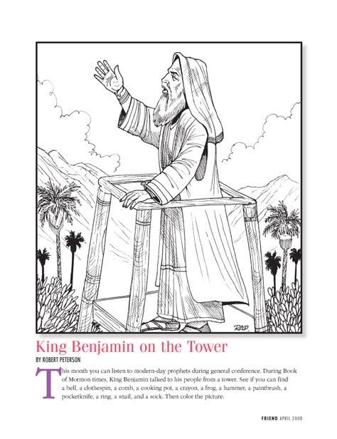 lds coloring pages king benjamin google images