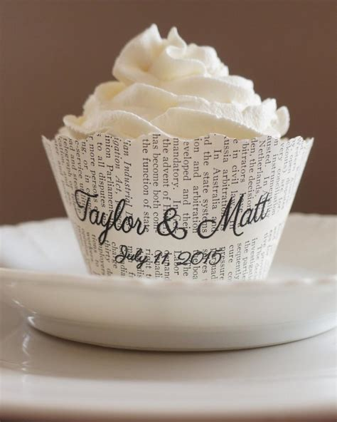cupcake liners for bridal shower cupcake wrappers scalloped edge custom names and date