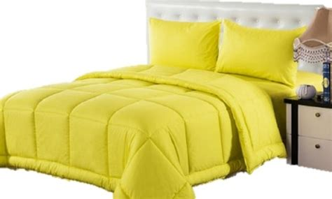 solid yellow comforter shop houzz tache home fashion 4 piece 100 cotton solid