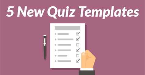 5 new quiz templates added to the library elearning