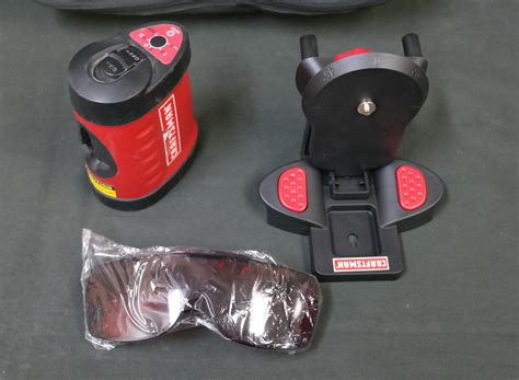 craftsman 320 48250 2 beam laser auto leveling system with