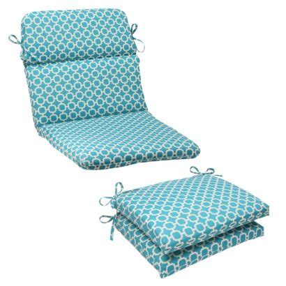 teal and white chair cushion outdoor rounded chair cushion teal white geometric