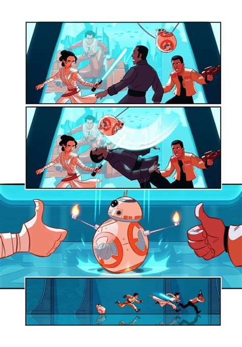 Coloring Book Wars The Awakens Rule The Universe finn and poe fight jar jar binks in fan made comic wars episode 7 5 geektyrant