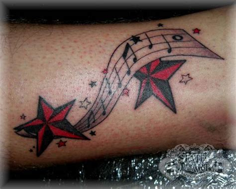 music notes and stars tattoo designs notes and by state of on deviantart