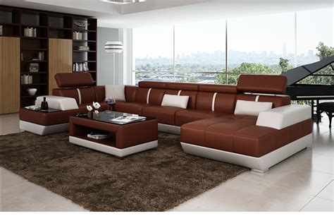 Modern Sofa Set Living Room Furniture Black Leather Modern Living Room Furniture For Sale