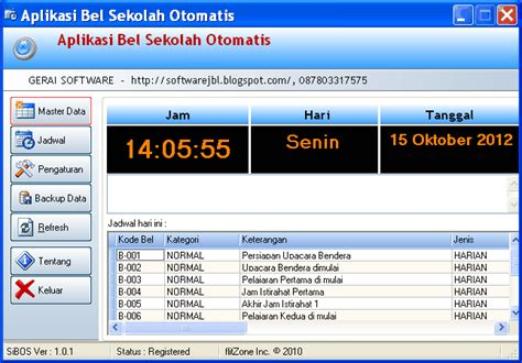 Bel Otomatis Untuk Sekolah software bel otomatis sekolah