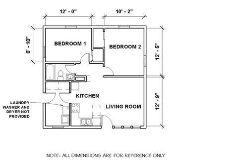 1 Bedroom Bungalow Floor Plans