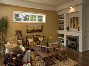 Innovation brown living room color scheme wooden cabinet and fireplace