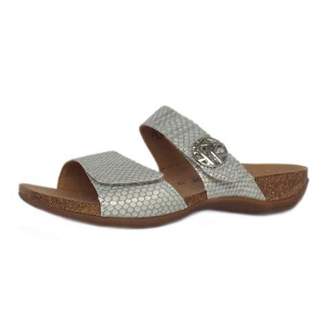 gabor comfort range gabor sandals shani women s sandal in silver leather