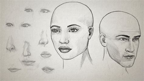 sketch pattern vs feature pattern drawing facial features pluralsight