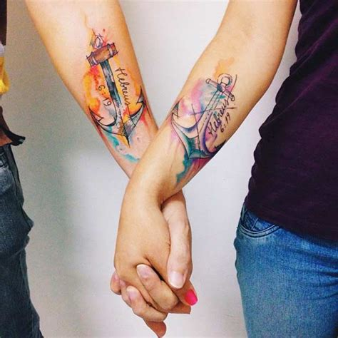 anchor tattoo for couples 61 cute couple tattoos that will warm your heart page 3