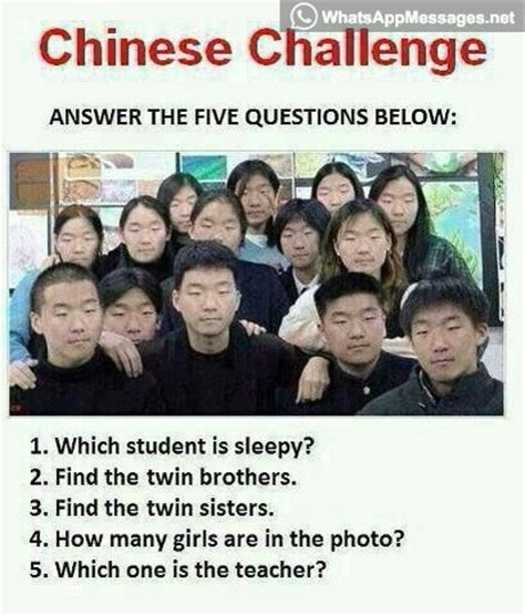 Asian Photographer Meme - chinese challenge just answer these 5 questions
