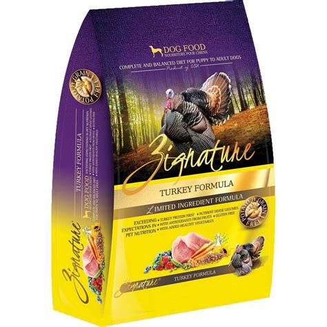 zignature puppy food zignature turkey formula food whitedogbone