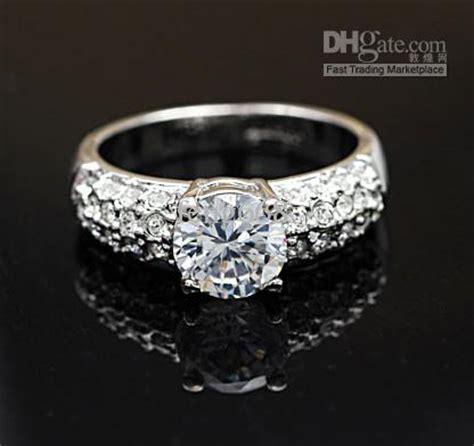 2017 jewelry ring swarovski crystal 18k gold plated