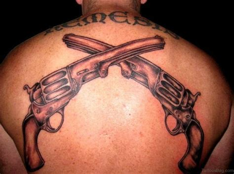 tattoos of guns 64 ultra modern gun tattoos for back