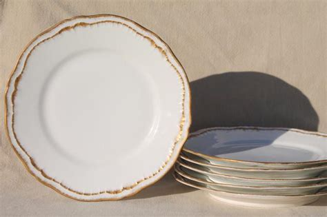 Deckenle Glas by Vintage Theodore Haviland China Salad Plates White