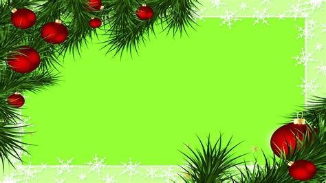 christmas border green screen youtube