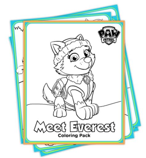 coloring page paw patrol everest paw patrol everest coloring pages http www