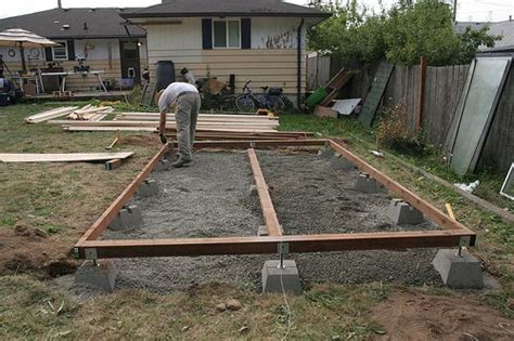 Backyard Shed Foundation by Tarmin Shed Flooring Ideas