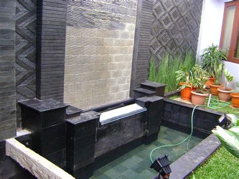 desain taman depan rumah dengan air mancur tukang taman tukang kolam suplier tanaman hias jasa
