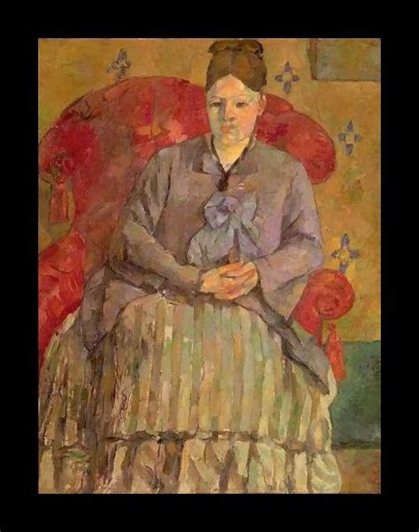 madame cezanne in a red armchair paul cezanne biography