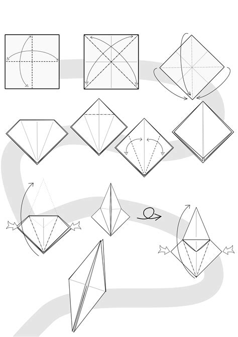 Origami Wolf Step By Step - origami diagram