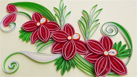 How To Make From Paper Quilling - paper quilling how to make a beautiful flower orchids