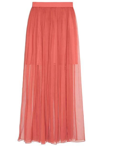 lovely dusty pink chiffon flowing maxi skirt elizabeth s