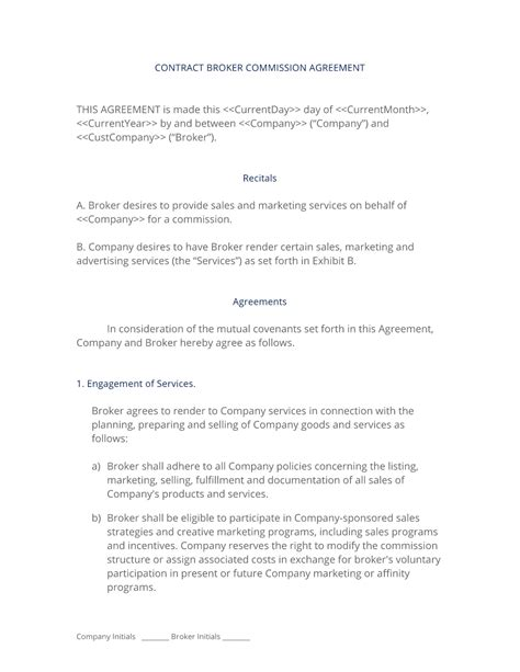 sales commision agreement template broker commission sales agreement 3 easy steps
