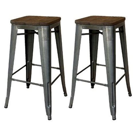 Julien Leather Bar Stool Sale by Threshold Hden Industrial 29 Quot Barstool With Wood Top