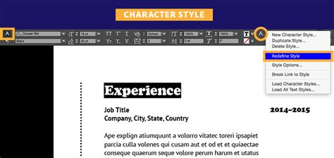 indesign font library create a professional resume adobe indesign cc tutorials