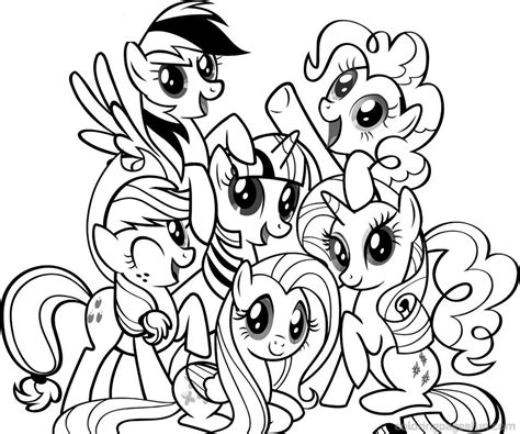 pony coloring pages girl coloring pages