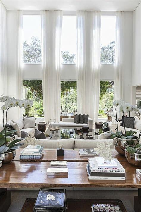 wohnideen gardinen wanddesign ideen wohnideen wohnzimmer gro 223 e fenster lange