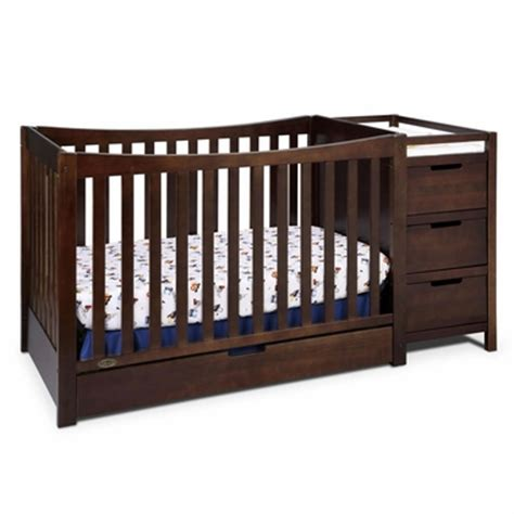 Graco Crib Espresso by Graco Remi 4 In 1 Convertible Crib And Changer In Espresso