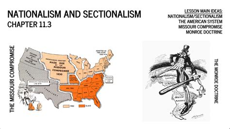 growth of sectionalism unit 6 national and regional growth mr mac s room