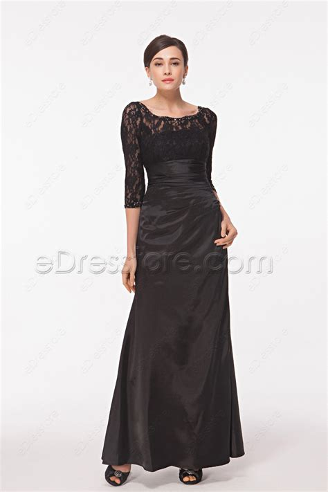 black homecoming dresses with sleeves modest black prom dress with sleeves