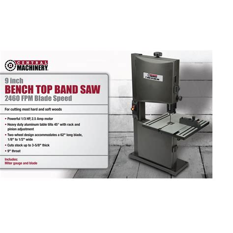 bench top bandsaw reviews 1 3 hp 9 in benchtop band saw