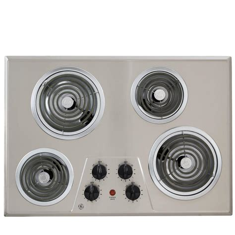 stainless steel cooktop electric 30 in coil electric cooktop in stainless steel with 4